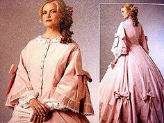 Historical Womens Civil War Dress Pattern Gone With The Wind Costume Pattern by PatternsFromThePast
