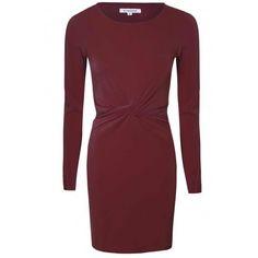 Oxblood Twist Bodycon Dress (2.170 RUB) via Polyvore