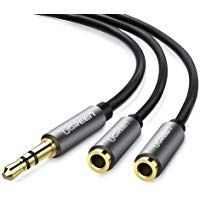 Initiative Black 3.5mm Female To 2 Of 3.5mm Male Audio Splitter Cable For Speakers Or Headphones Selling Well All Over The World Consumer Electronics Digital Cables