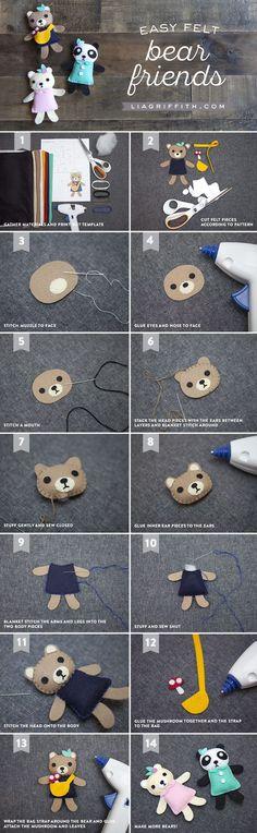 Mini Bear Friends Sewing Pattern