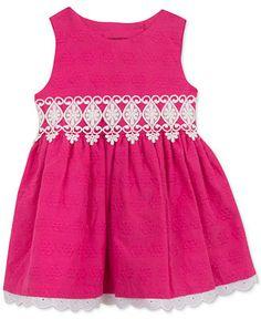 Rare Editions Baby Girls' Fuchsia Eyelet dress - Baby Girl (0-24 months) - Kids & Baby - Macy's