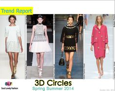 3D Circles FashionTrend for Spring Summer 2014  #polkadots #fashion #spring2014 #trends #fashiontrends2014