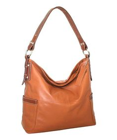 Look what I found on #zulily! Cognac Bali Leather Hobo by Nino Bossi Handbags #zulilyfinds