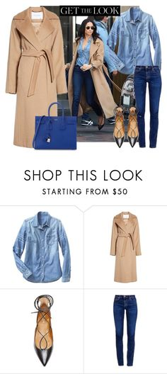 """Get the look Meghan Markle"" by thestyleartisan ❤ liked on Polyvore featuring Gap, MaxMara, Aquazzura, AG Adriano Goldschmied, Yves Saint Laurent, GetTheLook and MeghanMarkle"