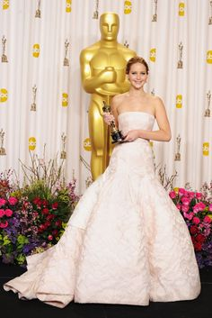 Jennifer Lawrence after winning an Oscar in 2013.