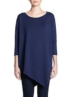 Soft Joie Tammy Asymmetrical Cotton Top - in gray
