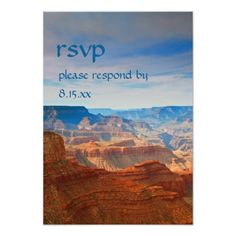 Shop Grand Canyon Wedding Nature RSVP Response Card created by nationalpark_t_shirt. Outdoor Wedding Invitations, Outdoor Wedding Reception, Rehearsal Dinner Invitations, Wedding Rehearsal, Wedding Rsvp, Wedding Cards, Wedding Ideas, Response Cards, No Response