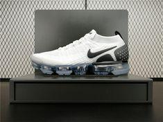Nike Air VaporMax 2.0 Flyknit 942842-103 Mens Running Shoes Black White