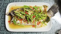 KitchenAholics: Thai steamed sea bass (sour and spicy style)