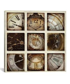 Look what I found on #zulily! Time Has Come Today Wrapped Canvas #zulilyfinds