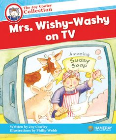 Mrs. Wishy-Washy's on TV - Mrs. Wishy-Washy says Sudsy Soap will wash anything! See our blog entry from March 8th, 2013: http://blog.hameraypublishing.com/blog/bid/235844/Mrs-Wishy-Washy-in-the-Classroom-and-on-YouTube
