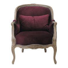 Purple Living Room Armchair Montpensier   Maisons du Monde