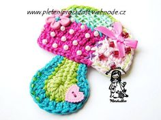 Crochet applique. Six free patterns.
