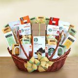 Starbucks Exquisite Gourmet Coffee, Tea, and Sweets Gift Basket | Fathers Day Gift Basket for the Coffee Lover | Organic Stores Gift Basket