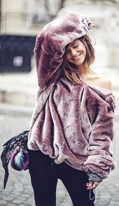 The Pavacat Story Of Lola Extreme Oversized Hoodie  is super cosy and warm and looks super cool styled with washed black mom jeans or skinny blacks and boots.
