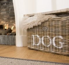 Dumb Dogs, Wicker, Rattan, West Highland White, White Terrier, Farmhouse Chic, Dogs Of The World, Dog Houses, Beautiful Interiors