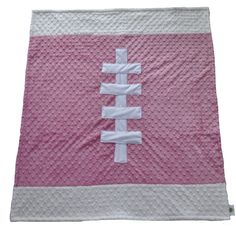 Football Baby Blanket in Pink