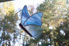 Pale Blue/Pink Swirl Butterfly Twirl