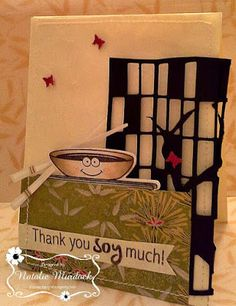 ONECRAZYSTAMPER.COM: Thank you Soy much! by Natalie using  Maki a Wish CYNS198 stamp set, Maki a Wish Die Set YNSD253
