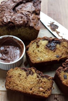 Nutella Banana Bread! Made with White Lily flour and filled with swirls of your favorite chocolate hazelnut spread. This bread is irresistible!