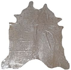 BS Trading Cowhides Acid Washed Silver