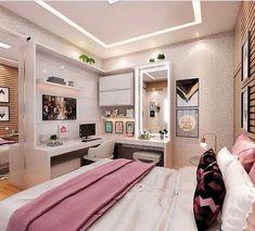 Room Design Bedroom, Girl Bedroom Designs, Room Ideas Bedroom, Home Room Design, Small Room Bedroom, Home Decor Bedroom, Small Rooms, Diy Bedroom, Bedroom Wall