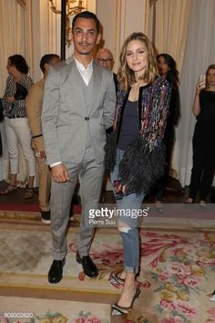 Olivia Palermo and Rami Al Ali attends the Rami Al Ali Presentation Haute Couture Fall/Winter 20172018 as part of Haute Couture Paris Fashion Week on...