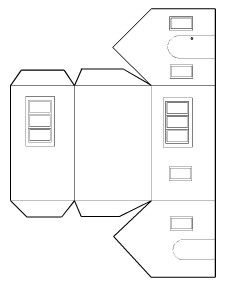 Risultato immagini per free template putz house Cardboard Box Houses, Cardboard Paper, Paper Houses, Paper Toys, Paper Crafts, Christmas Villages, Christmas Home, Christmas Crafts, Retro Christmas Decorations