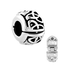 Charmed Craft Vintage Irish Celtic Knot Clip Lock Charms Bead For Bracelets #CharmedCraft