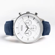 Montpellier White Chronograph Watch - Grand Frank