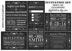 DESIGN 020 Chalkboard Wedding Invitation Retro by DIYFabulous, $15.00