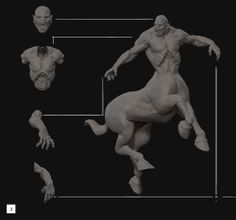 Here is a brief breakdown of Marcello Baldari's Hunting Centaur created for the BadKing Monster Brush Challenge. Marcello's unique design utlises a PolySketch technique within ZBrush.