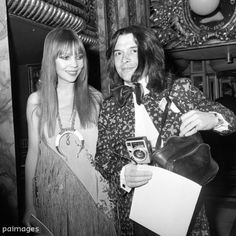 David Bailey with model Penelope Tree at Madame Tussauds in Baker Street, London to celebrate the 200th anniversary of the opening of the famed exhibition of waxwork models.