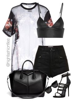 A fashion look from July 2015 featuring Givenchy blouses, Topshop shorts and T By Alexander Wang. Browse and shop related looks. Stage Outfits, Mode Outfits, Chic Outfits, Trendy Outfits, Girl Outfits, Summer Outfits, Fashion Outfits, Fashion Trends, School Outfits