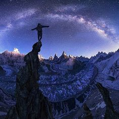 """""""Being on top of the world doesn't mean anything unless you know what it's like to be at the bottom."""" - Unknown --------------------------- Himalayas, Nepal. Credit:@maxrivephotography ☺🚀 #space_photography_eu #space #photography #astrophotography #astronomy #universe #cosmos #galaxy #nebula #stars #planet #nasa #science #photooftheday #amazing"""