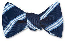 Brooks Stripes Bow Tie - B1788