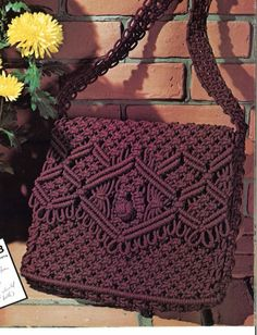 Stephanie Macrame Bags Design Sac à main Macrame Purse, Macrame Jewelry, Etsy Macrame, Sacs Design, How To Make Purses, Micro Macramé, Purse Tutorial, Boho Bags, Macrame Projects