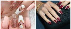 nail-art-2018-nail-art-design-2018-easy-nail-art-wine-pink-gold-Nail art 2018