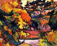 bofransson:  La Côte de Grâce Emile-Othon Friesz - 1906 Georges Braque, Henri Matisse, Pablo Picasso, Fauvism Art, Principles Of Art, Modern Artists, Public Art, Canvas Art Prints, Landscape Paintings