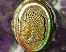 1940's Mexica AZTECA Mexican Biker Ring