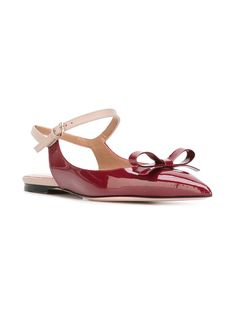 Red Valentino bow detail ballerinas