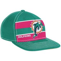 Reebok Miami Dolphins Aqua-Pink Breast Cancer Awareness Player Sideline Flex Hat