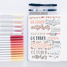 """Hall of Journal Fame! 📒🌿 on Instagram: """"We might be able to steal some idea from this October headers collection 😘 November is right in front of us! Make sure you are well…"""""""