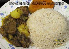 Samuels' Curried Goats' Meat with Irish Potato http://jamaicandinners.com