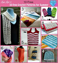 Link list 51. In this link list I have put together 10 Free Crochet Patterns for Summer.