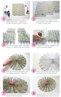 Printable DIY Paper Pinwheel Tutorial | Dream Green DIY