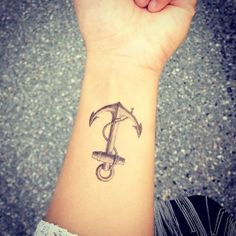 Anchor Tattoo on wrist