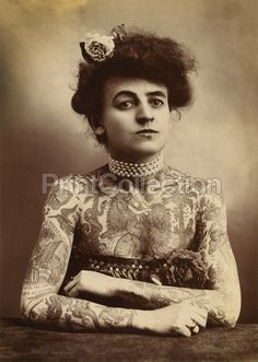 PrintCollection - Portrait of Tattooed Woman, 1907