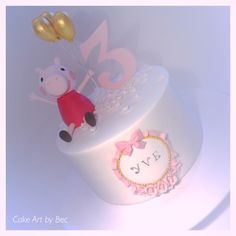 Peppa pig cake. By Cake Art by Bec.