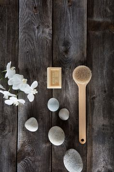 Dry brushing your skin is great for detoxing and exfoliating.